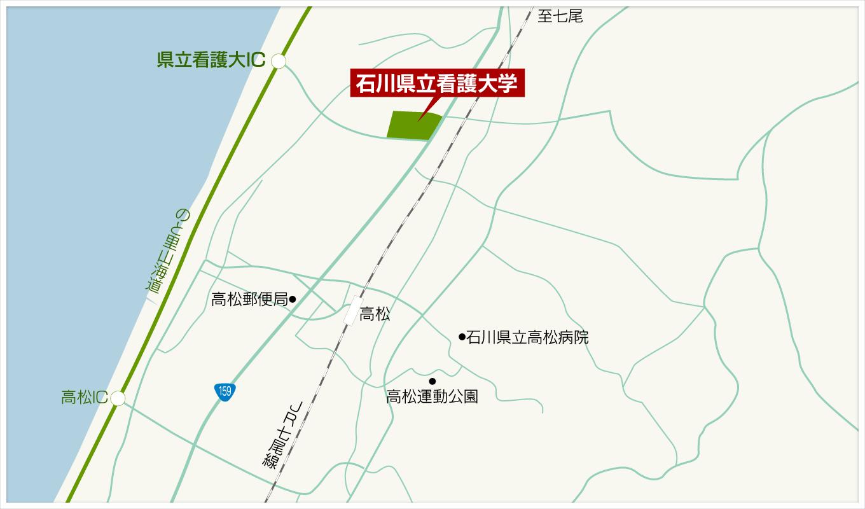 大学周辺地図