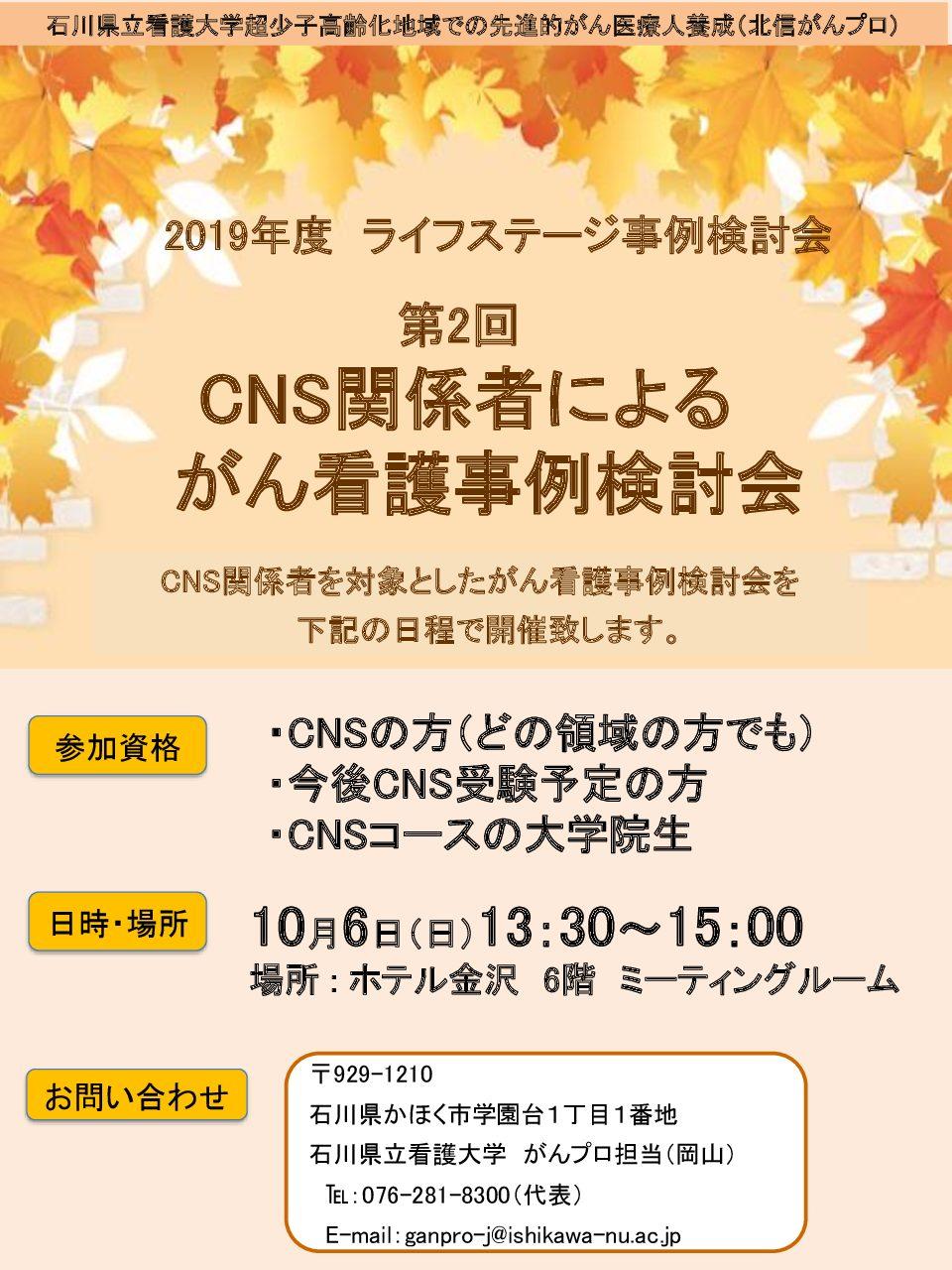 2019年度「CNS関係者によるがん看護事例検討会」